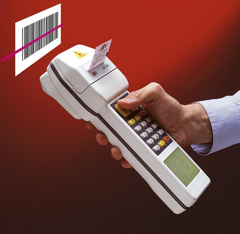 Computer palmare rugged con stampante lettore barcode_DAT400