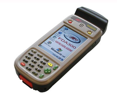 FDA300 rugged handheld computer magnetic card reader