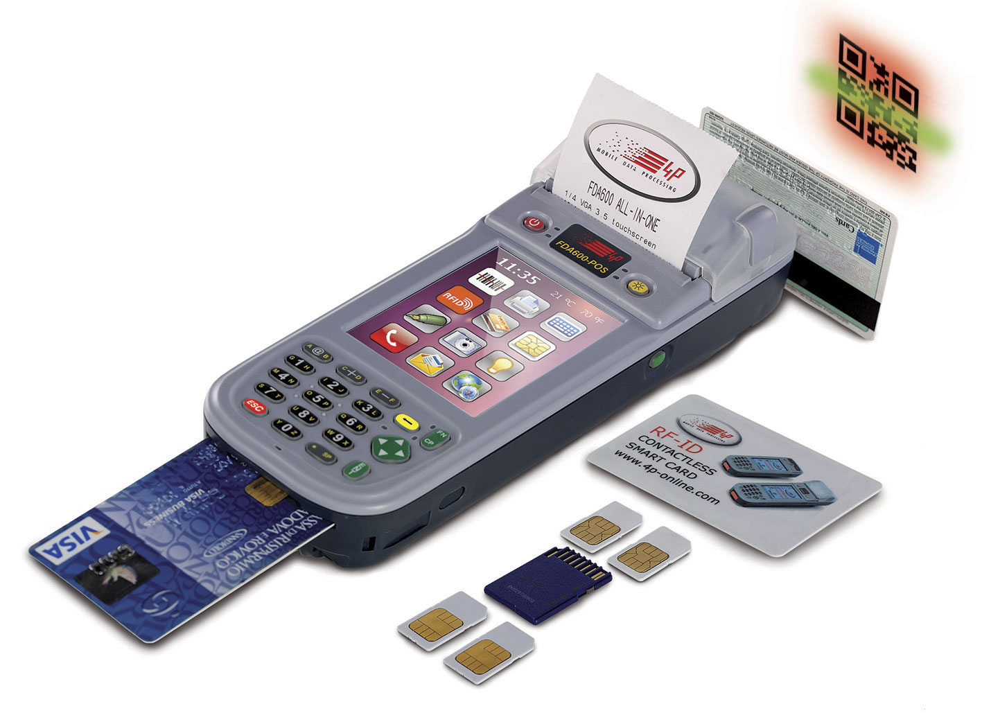 FDA600-POS ALL IN ONE printer PDA with embedded EFTPOS for cashless payments