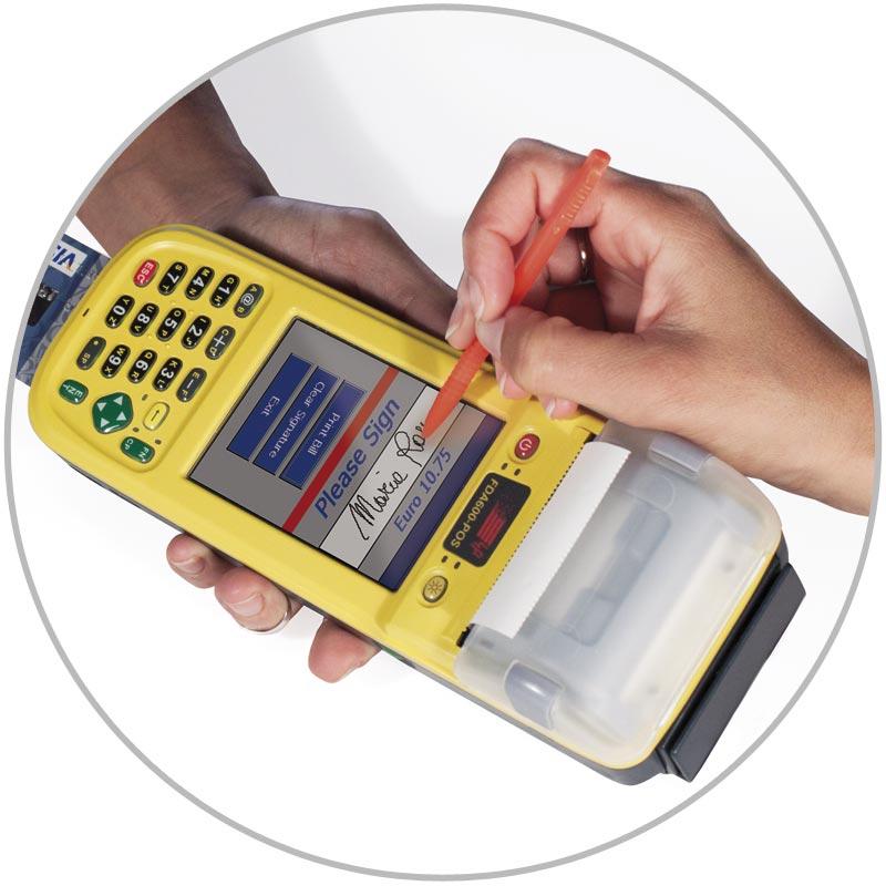 FDA600-POS computer palmare rugged TUTTO-IN-UNO POS Bancomat