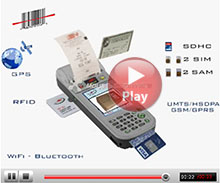 FDA600-POS Payment PDA with camera, barcode scanner, RFID, UMTS/HSDPA/GSM/GPRS/EDGE, WiFi, Bluetooth, GPS, biometric signature.
