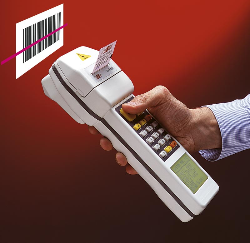 Rugged handheld computer with printer barcode scanner DAT400