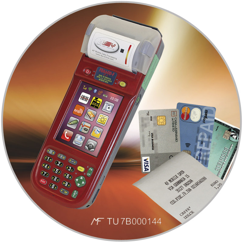 mobile fiscal electronic cash register with embedded eftpos